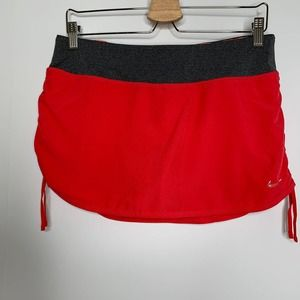 Nike Drifit Red and Pink Leopard Skort Medium
